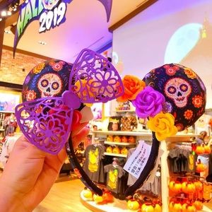 Coco day of the dead Minnie Mouse Ears Headband